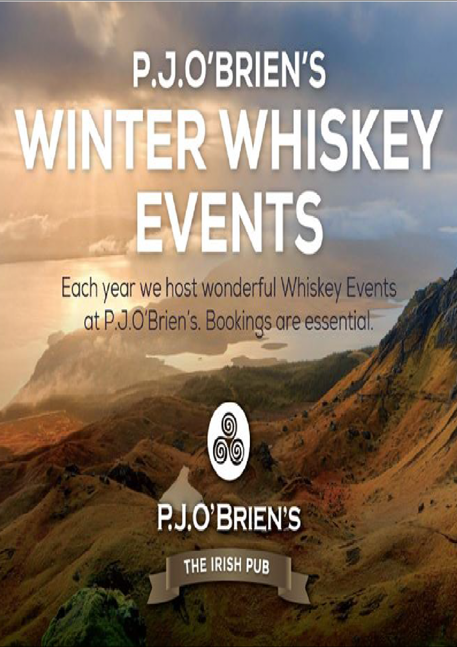 Winter Whiskey Events at P.J.O'Brien's Melbourne