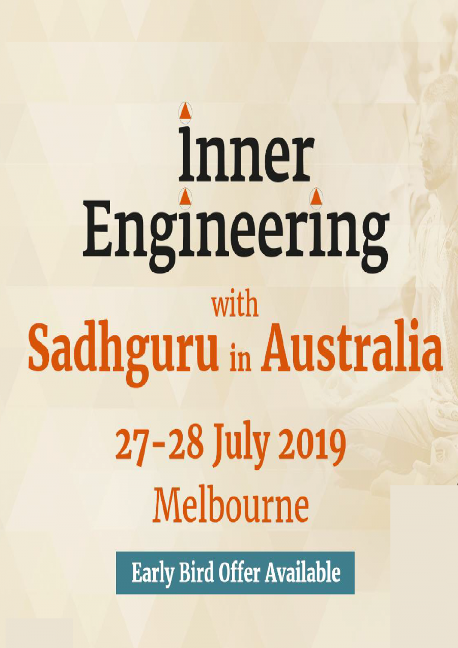 Inner Engineering with Sadhguru in Australia at Melbourne Convention and Exhibition Centre (MCEC)