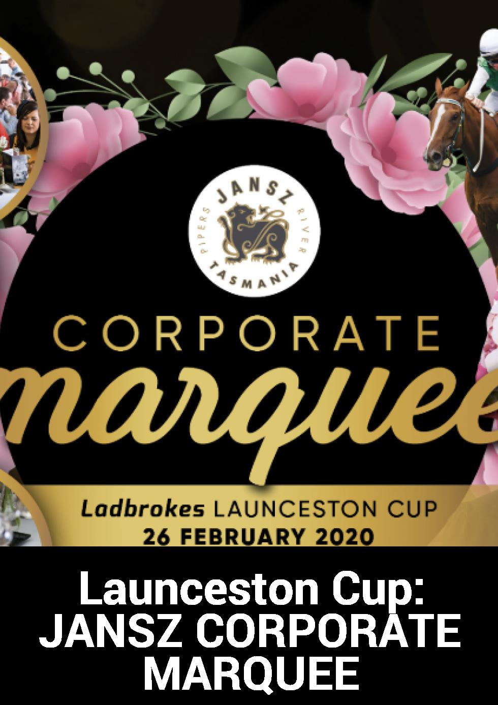 Launceston Cup: JANZ CORPORATE MARQUEE at Tasmanian Turf Club Inc