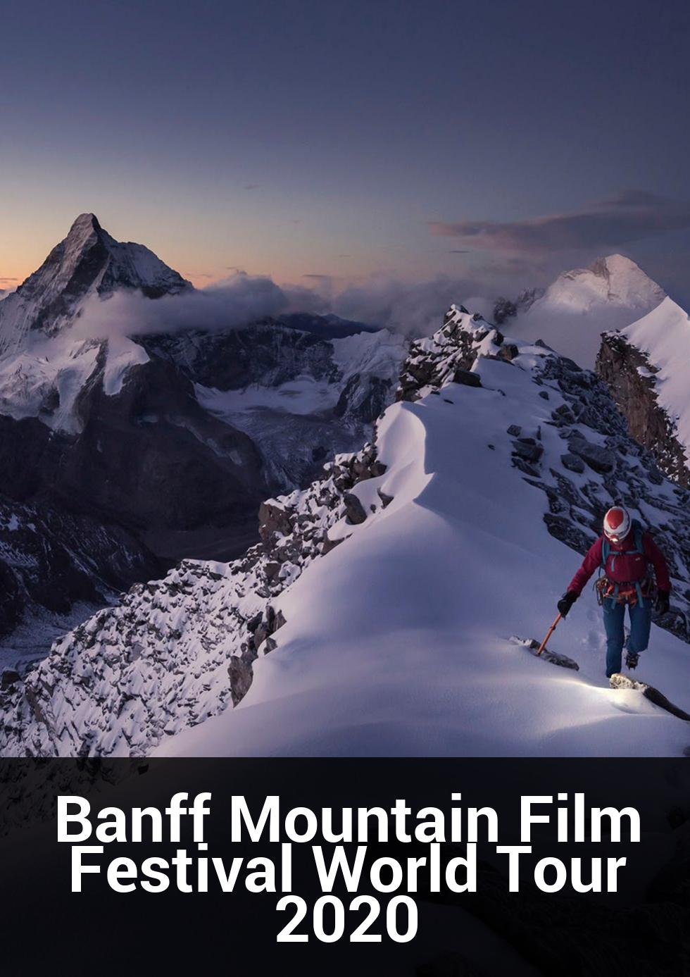 Banff Mountain Film Festival World Tour 2020 at National Film & Sound Archive
