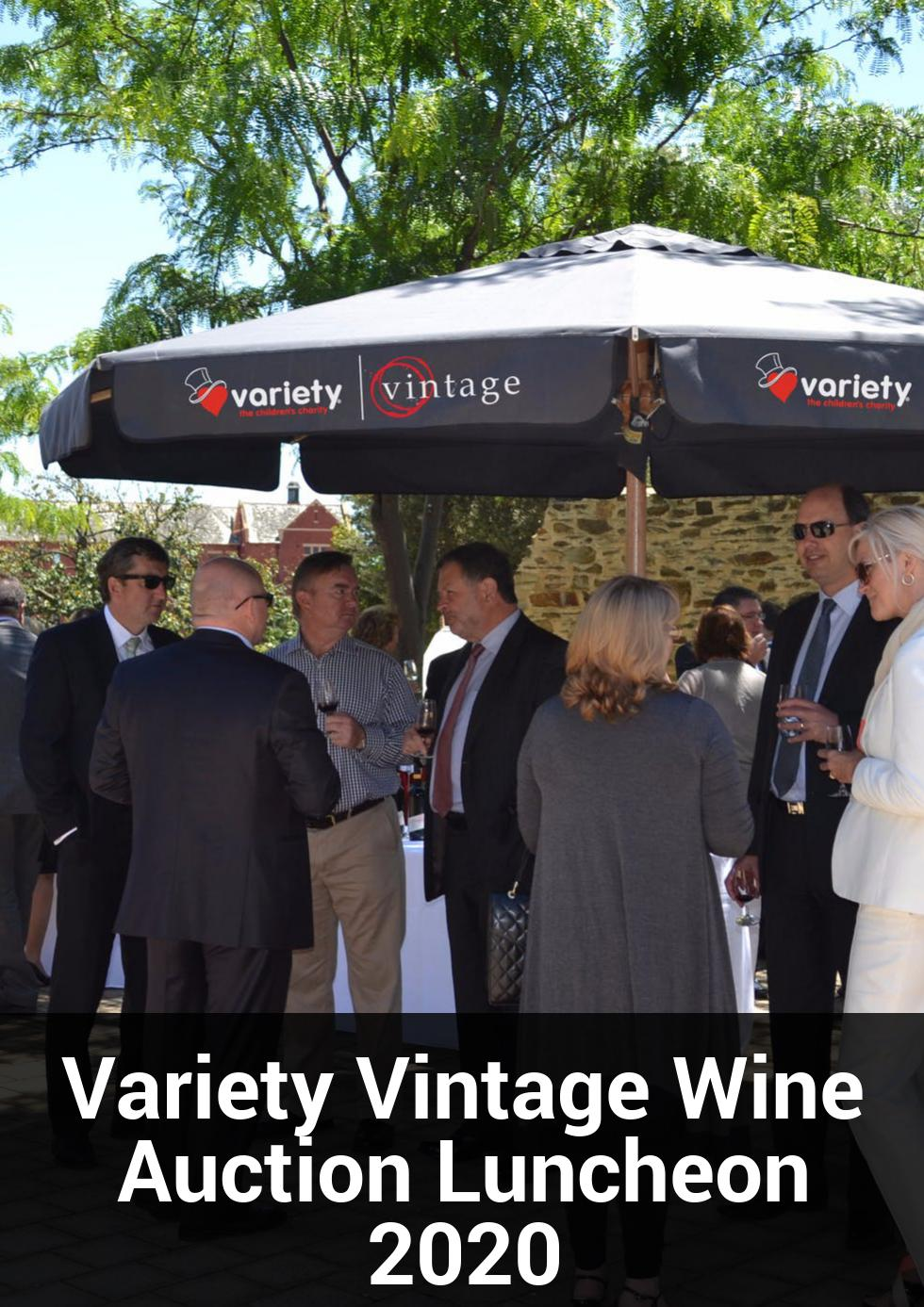 Variety Vintage Wine Auction Luncheon 2020 at National Wine Centre