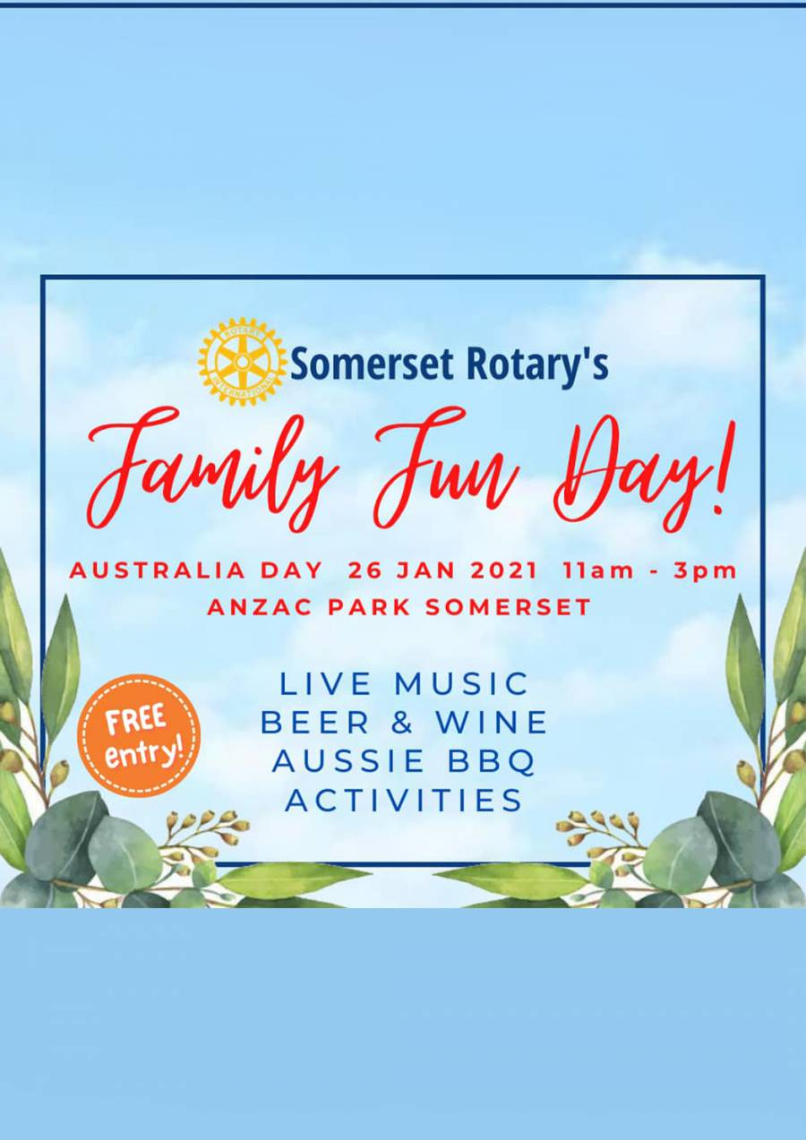 Somerset Rotary's Family Fun Day at Somerset ANZAC Park