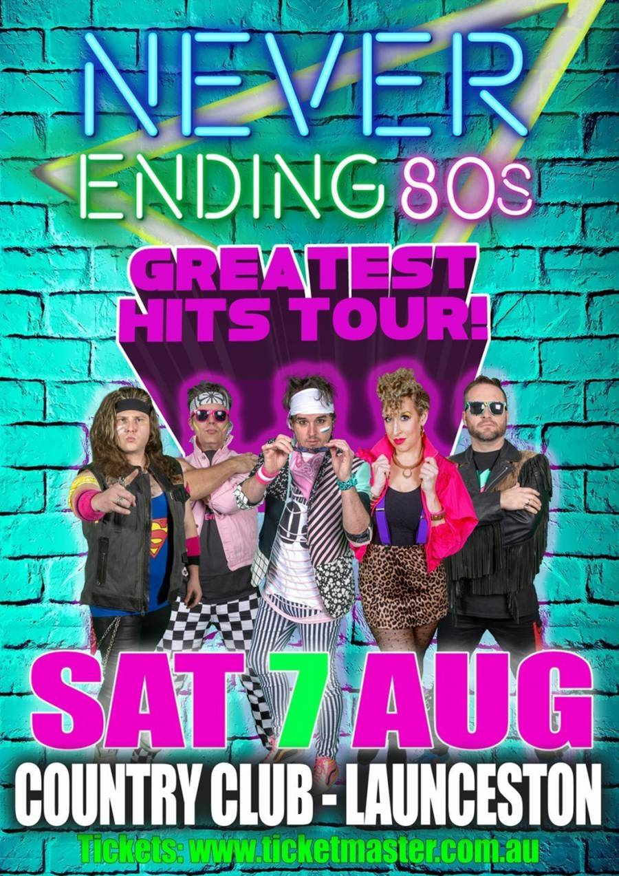 Never Ending 80s Party - Country Club Tasmania at Country Club Tasmania